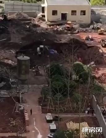 武义县一在建工地发生地下室坍塌